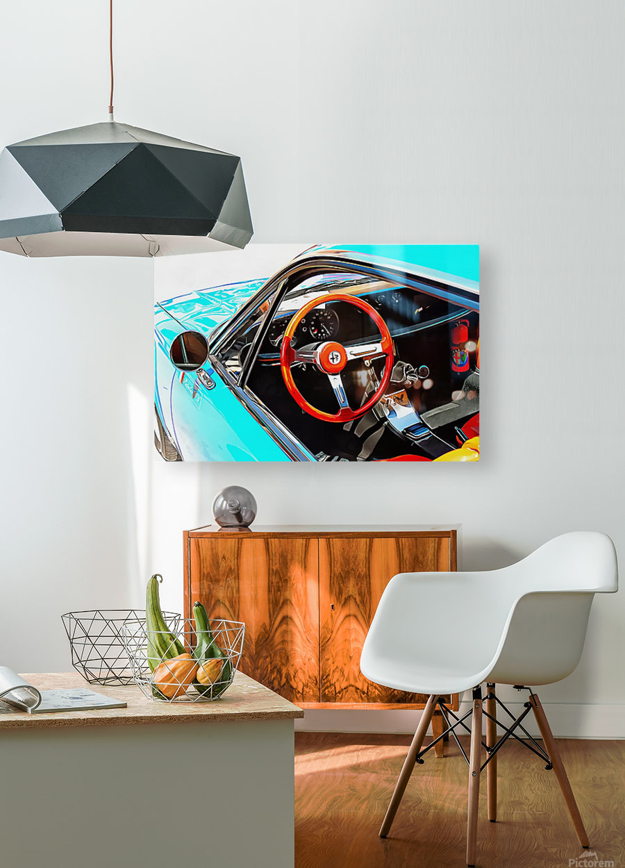 Alfa Romeo 1600Z Through The Window  HD Metal print with Floating Frame on Back