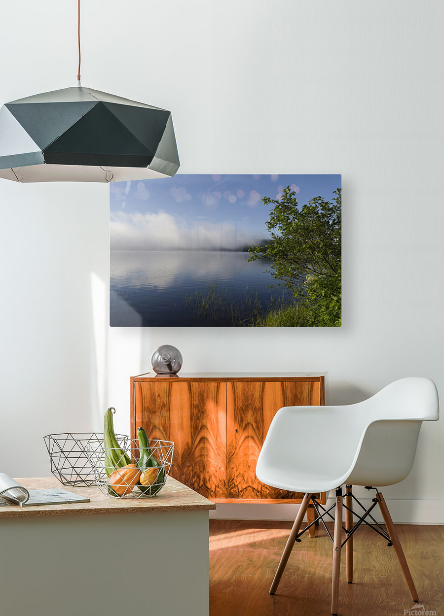 Early Morning Fog Bank  HD Metal print with Floating Frame on Back