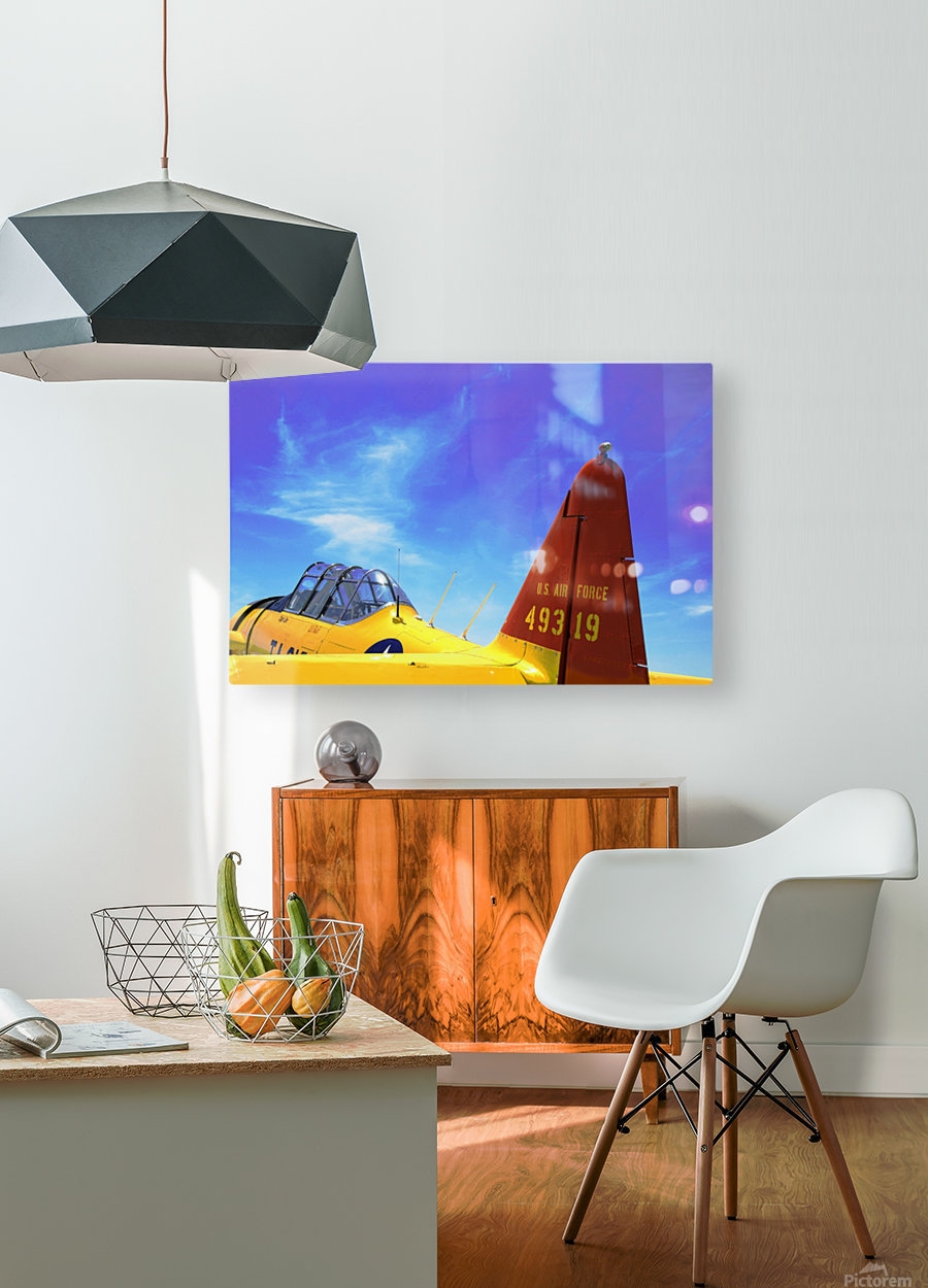 T6 Texan  HD Metal print with Floating Frame on Back