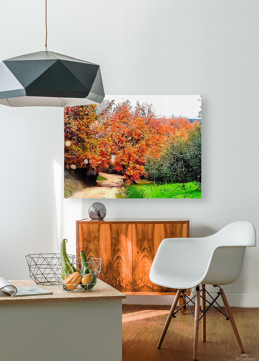 Autumn Golden Colours Umbria  HD Metal print with Floating Frame on Back