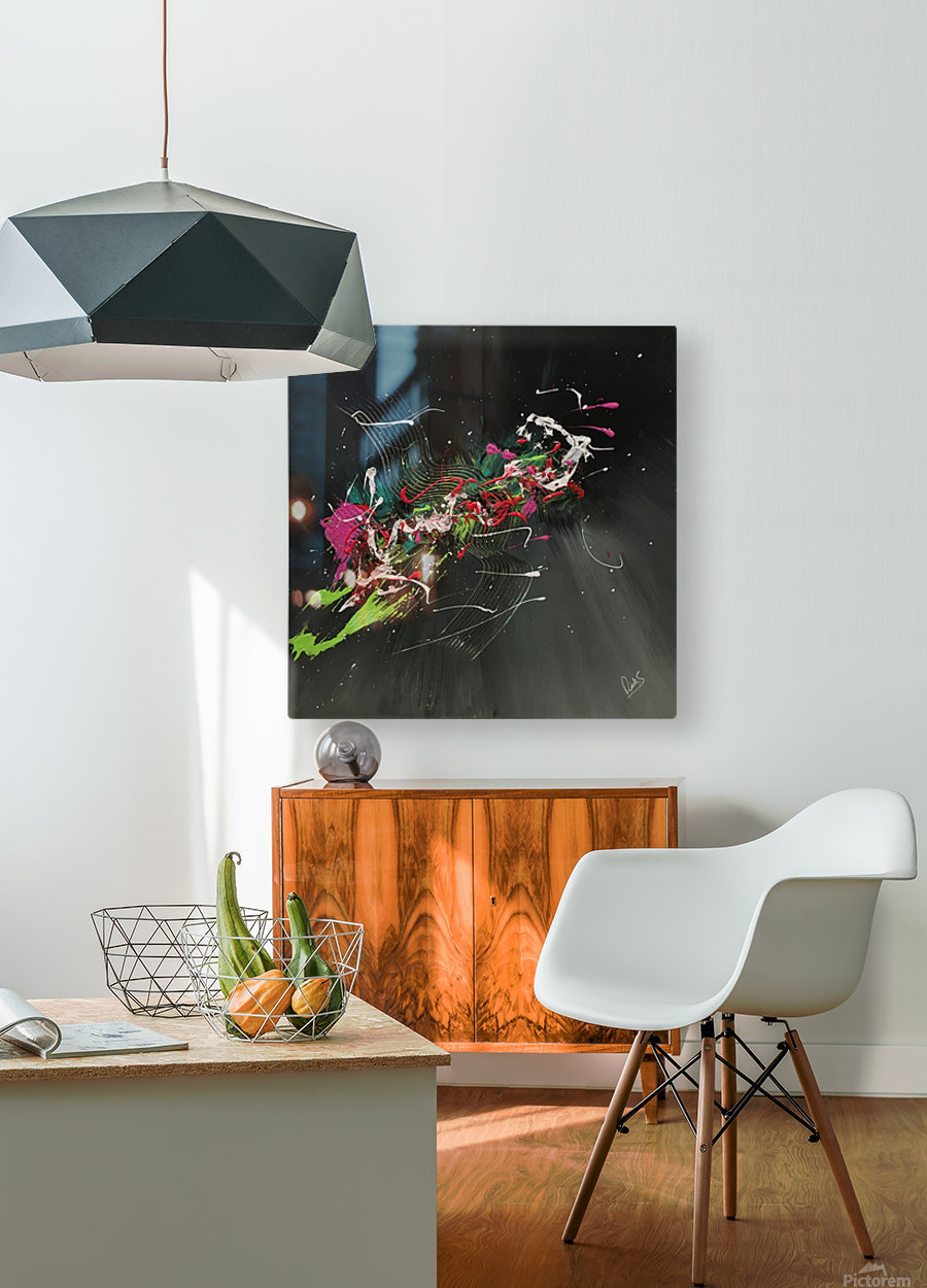 BIRD OF PARADISE  HD Metal print with Floating Frame on Back