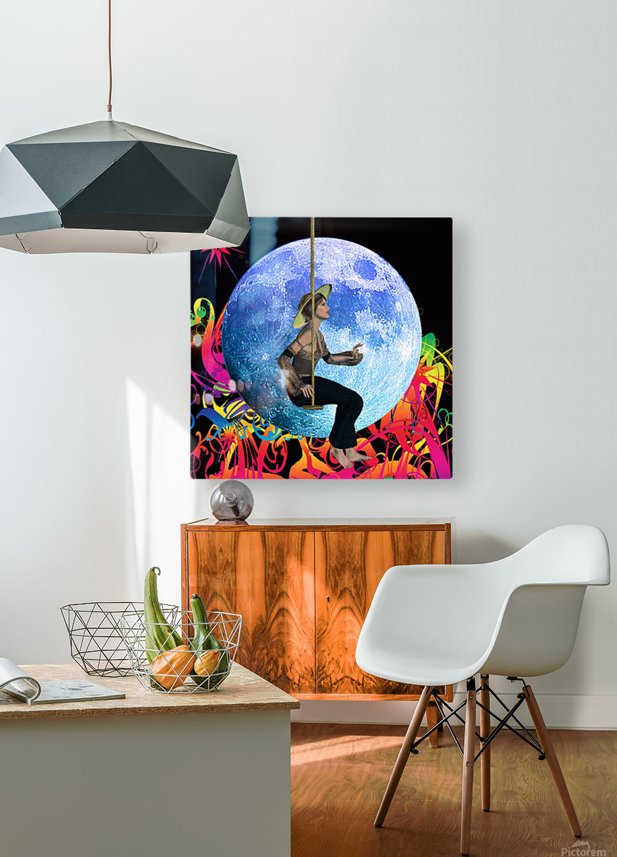 Moon Dream  HD Metal print with Floating Frame on Back