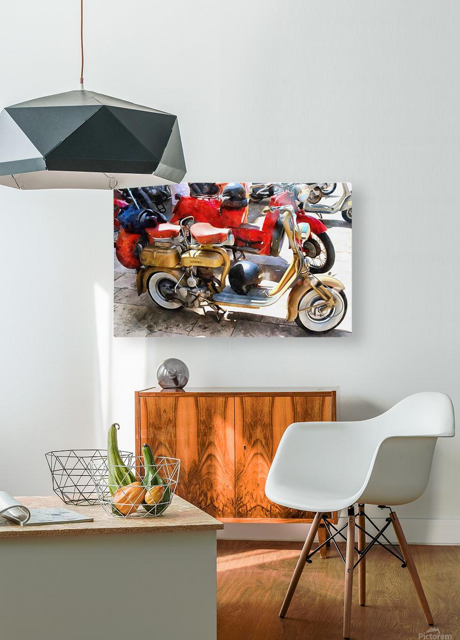 Make Mine a Lambretta  HD Metal print with Floating Frame on Back