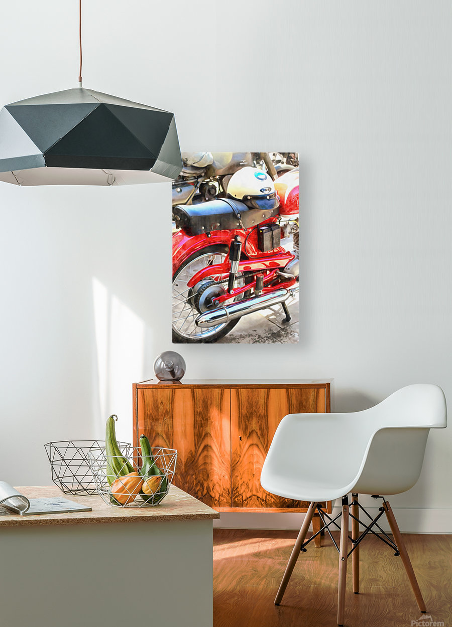 Neatly Parked  HD Metal print with Floating Frame on Back