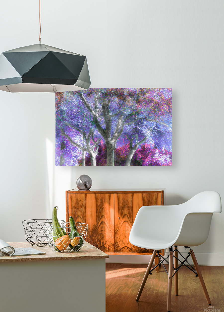 Muted Treetops  HD Metal print with Floating Frame on Back