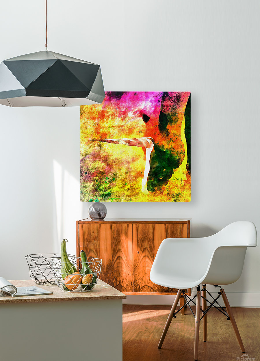 Horses Dream Of Being Unicorns  HD Metal print with Floating Frame on Back