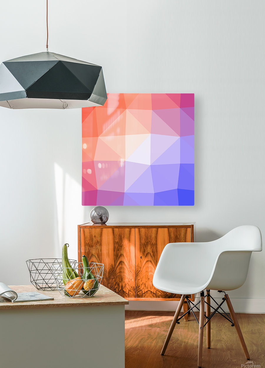 Abstract art patterns low poly polygon 3D backgrounds, textures, and vectors (2)  HD Metal print with Floating Frame on Back