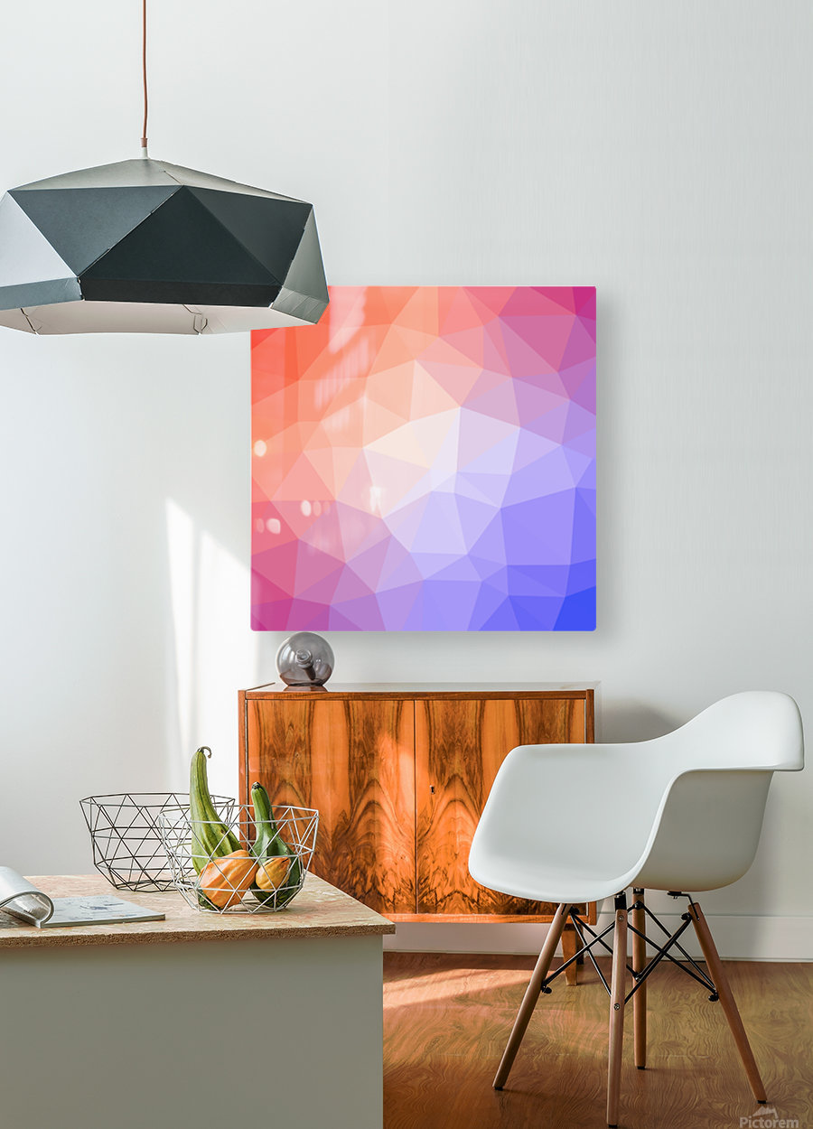 Abstract art patterns low poly polygon 3D backgrounds, textures, and vectors (8)  HD Metal print with Floating Frame on Back
