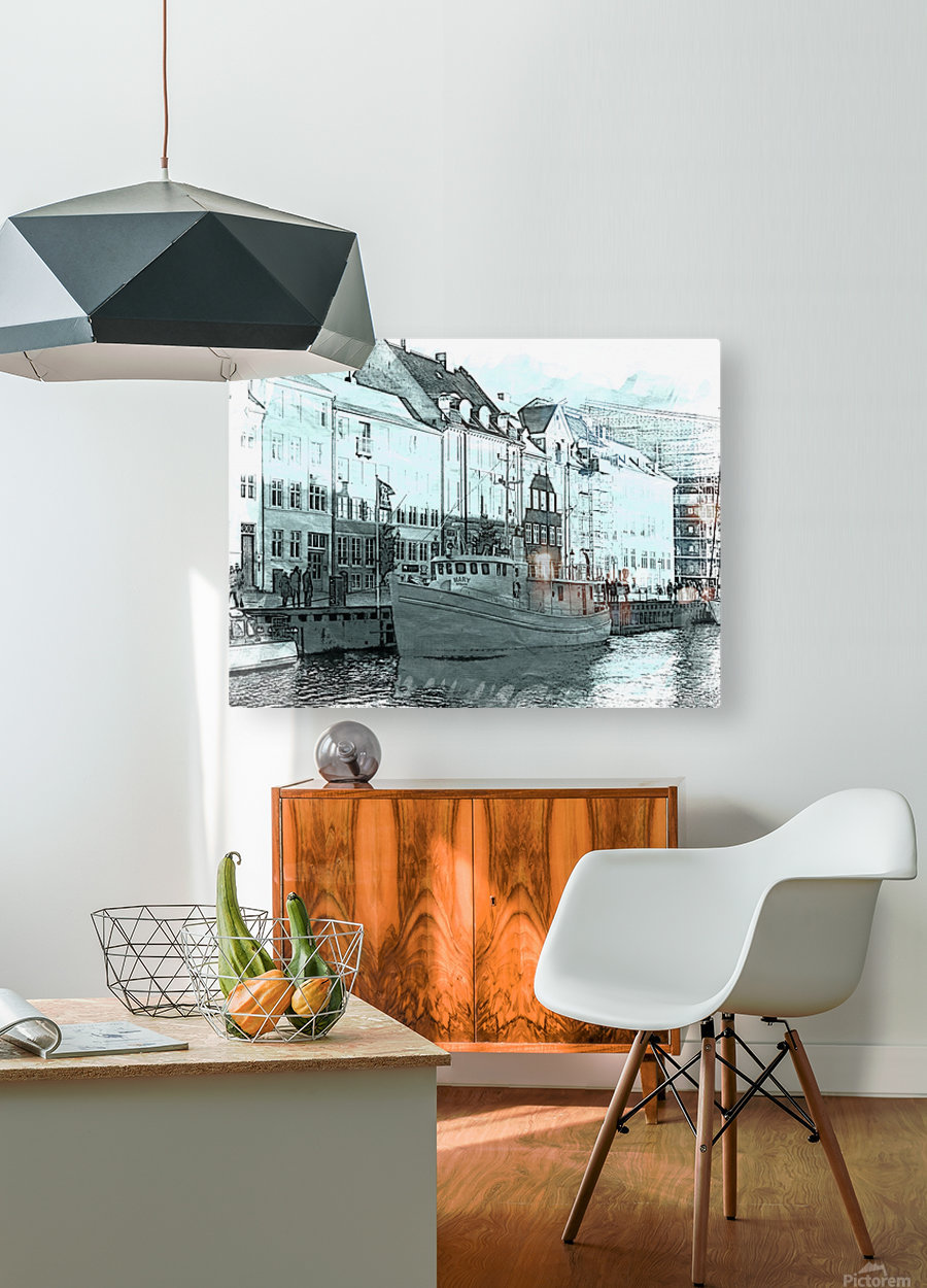 Awaiting Sail  HD Metal print with Floating Frame on Back