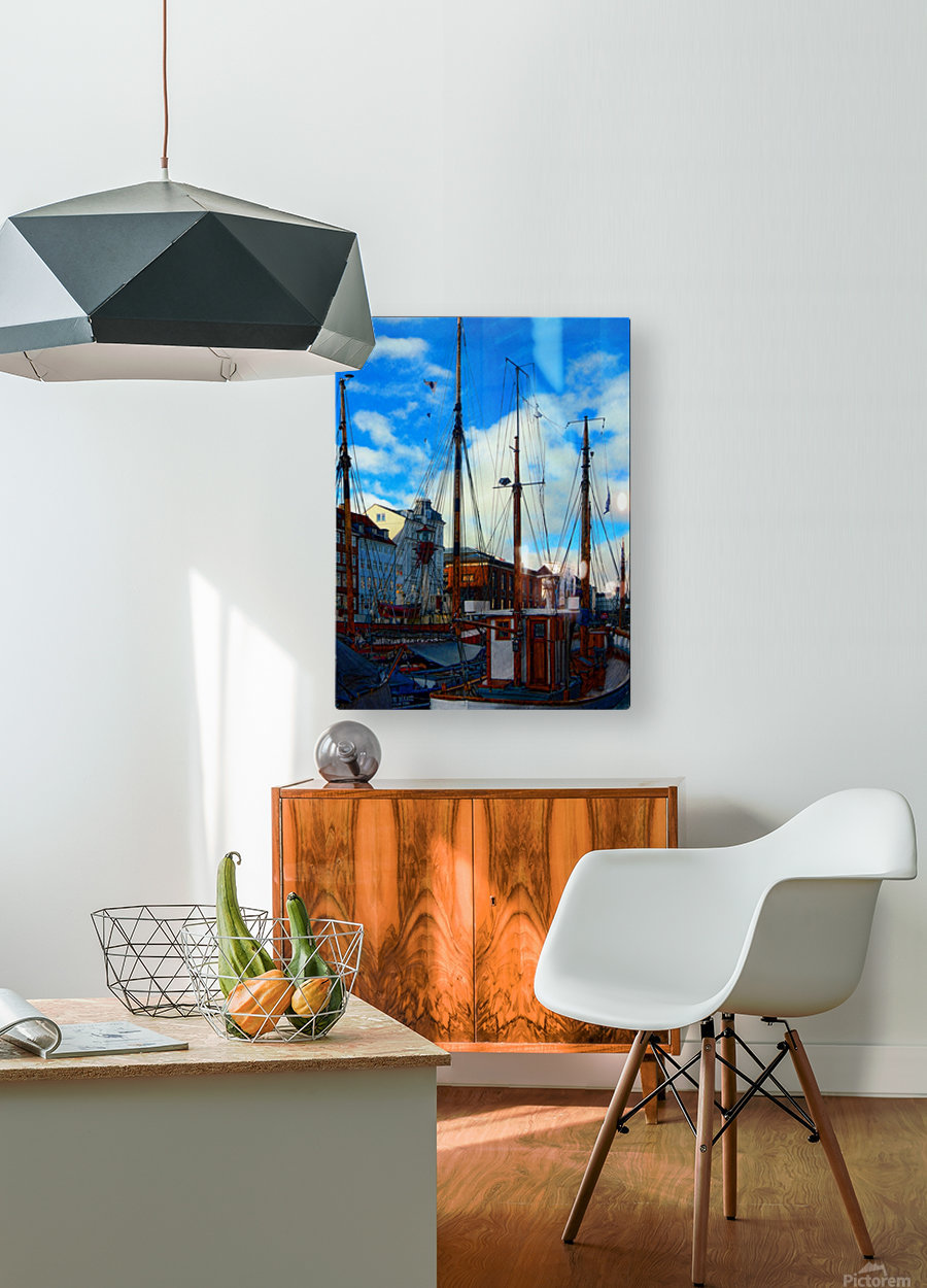 A Study in Masts  HD Metal print with Floating Frame on Back