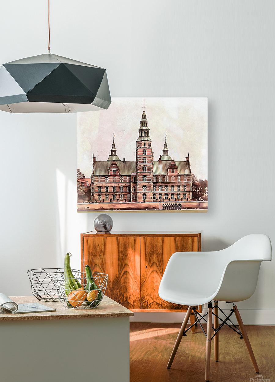 Rosenborg Castle Copenhagen  HD Metal print with Floating Frame on Back