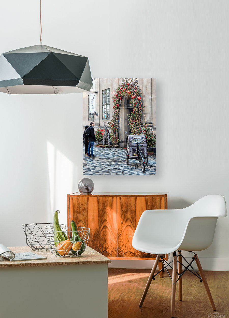 Christmas at a Museum Copenhagen  HD Metal print with Floating Frame on Back