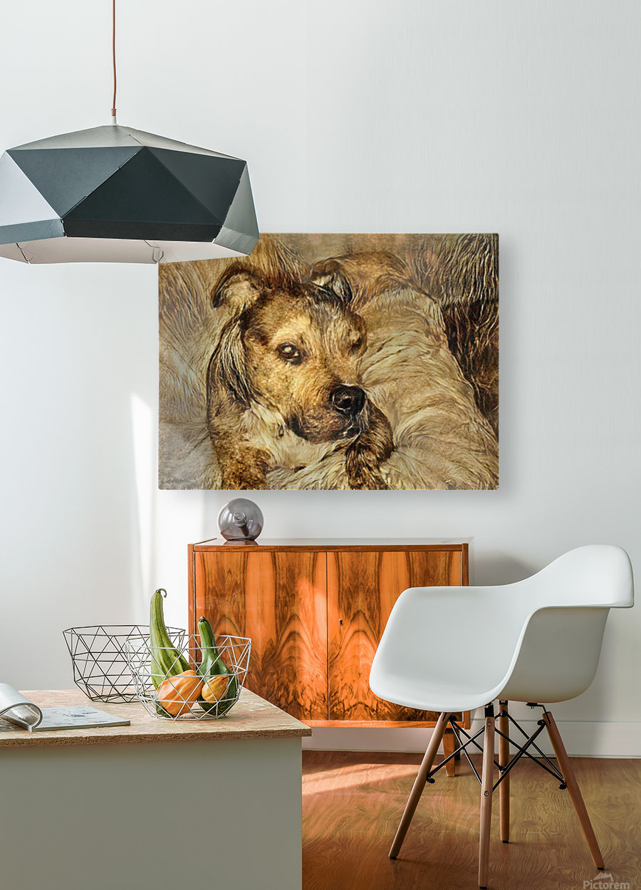 Dog Drawing (14)  HD Metal print with Floating Frame on Back