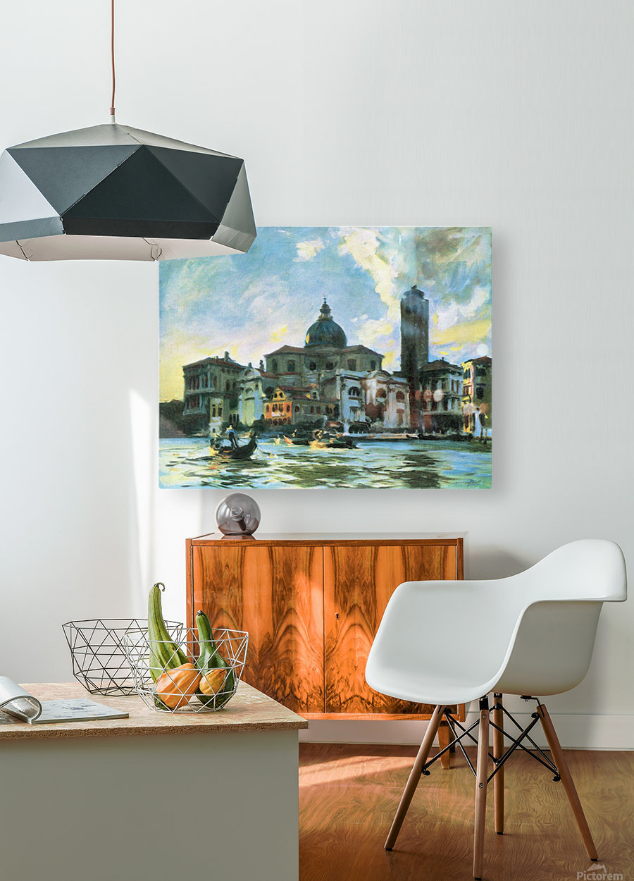 Palazzo Labia, Venice by John Singer Sargent  HD Metal print with Floating Frame on Back