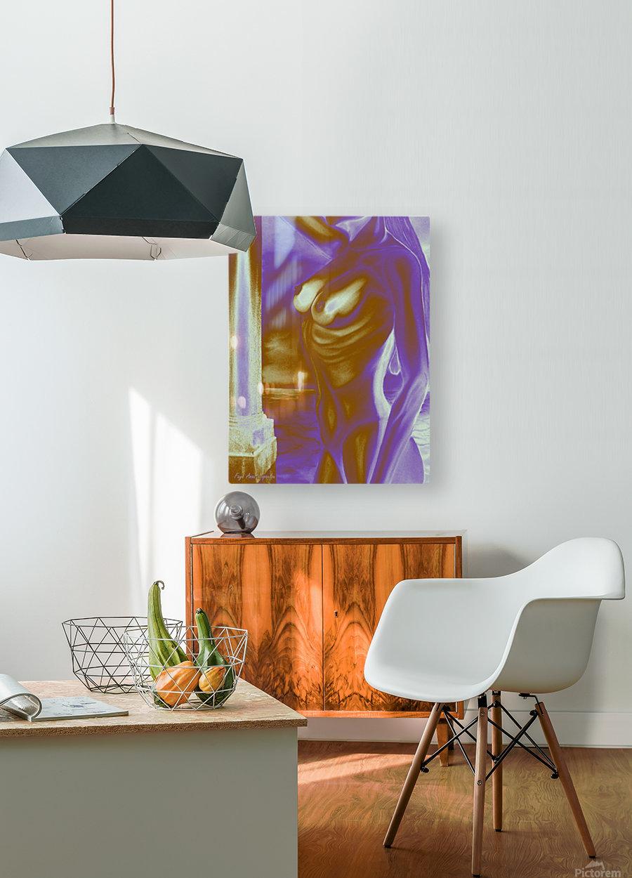 Violet Inspiration  HD Metal print with Floating Frame on Back