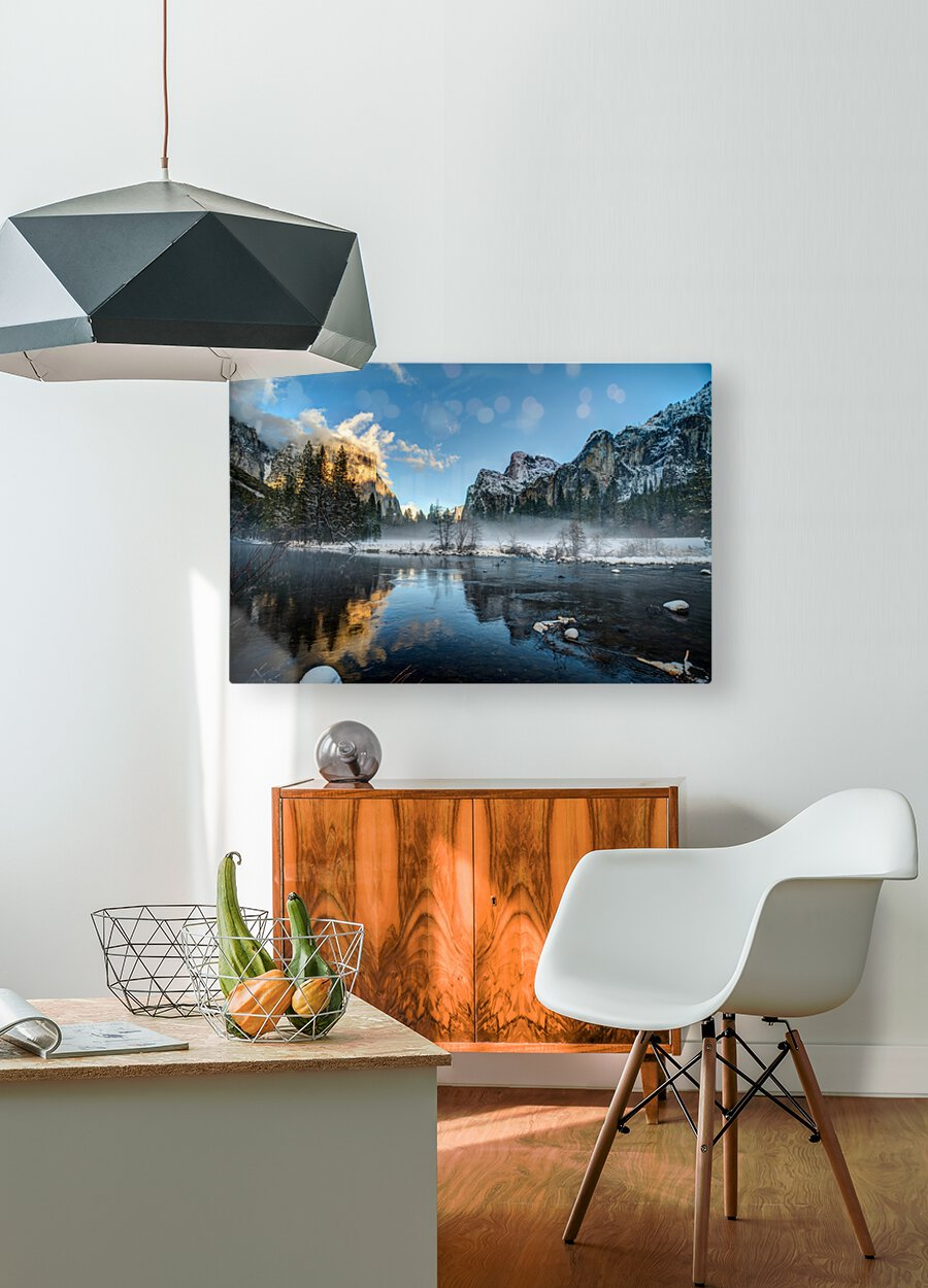 Yosemite  HD Metal print with Floating Frame on Back