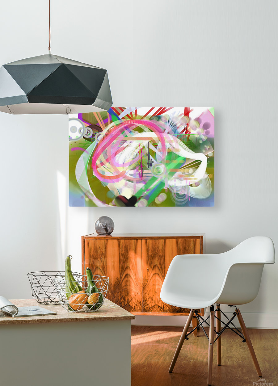New Popular Beautiful Patterns Cool Design Best Abstract Art (3)  HD Metal print with Floating Frame on Back