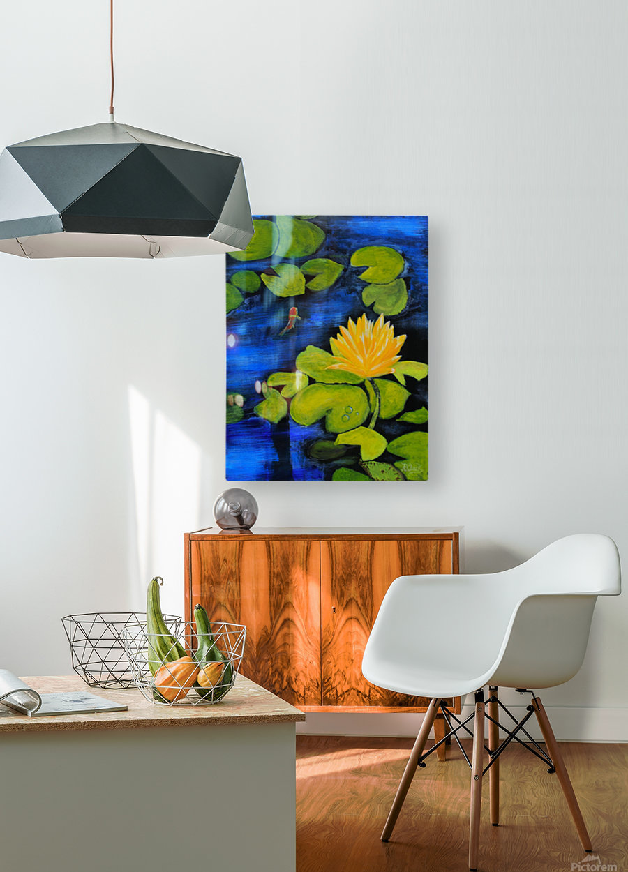 lily pond   HD Metal print with Floating Frame on Back