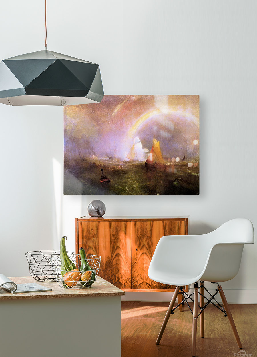 Wrecked bouys by Joseph Mallord Turner  HD Metal print with Floating Frame on Back