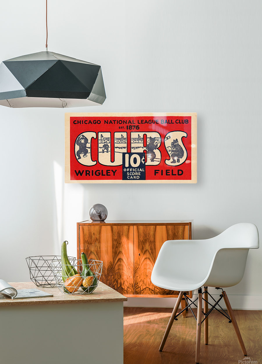 1929 Chicago Cubs score card  HD Metal print with Floating Frame on Back