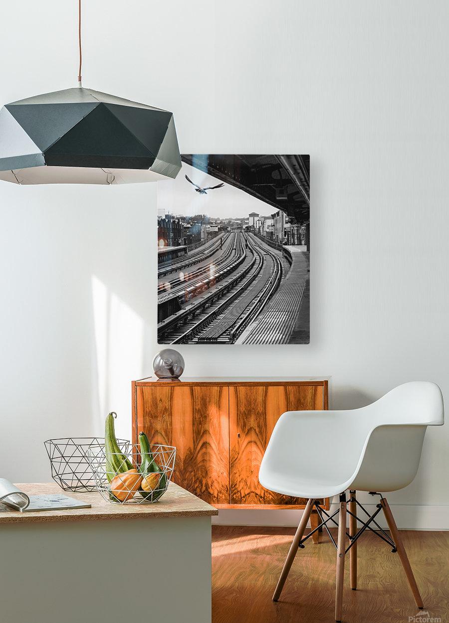 Station de métro - Brooklyn  HD Metal print with Floating Frame on Back