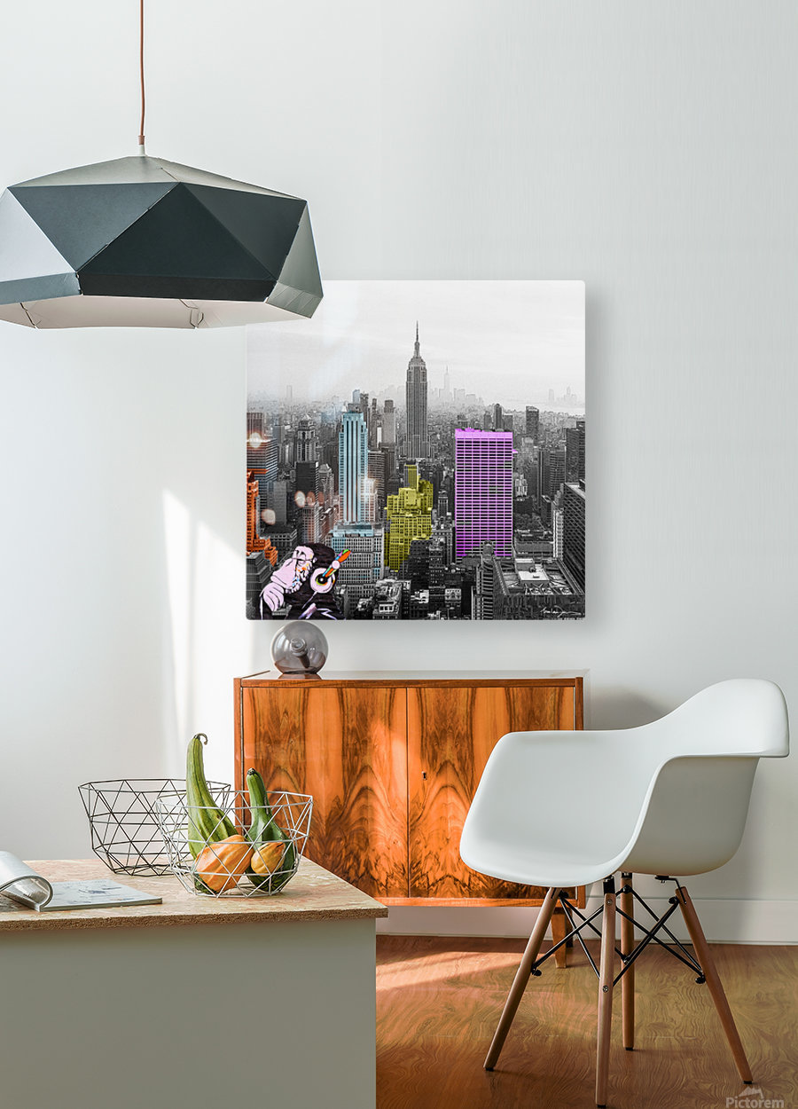 New York - Empire State Building  HD Metal print with Floating Frame on Back