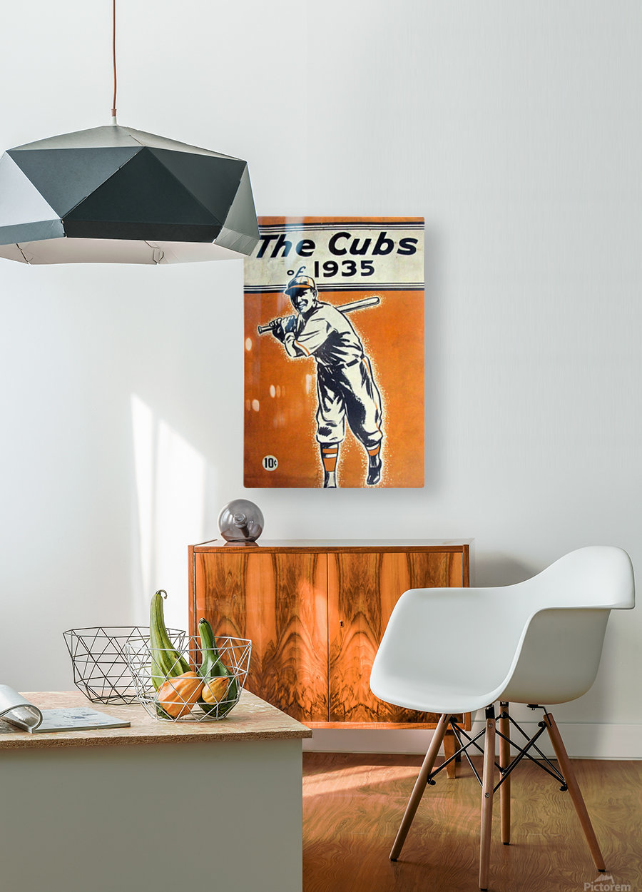 1935 Chicago Cubs Program Cover  HD Metal print with Floating Frame on Back