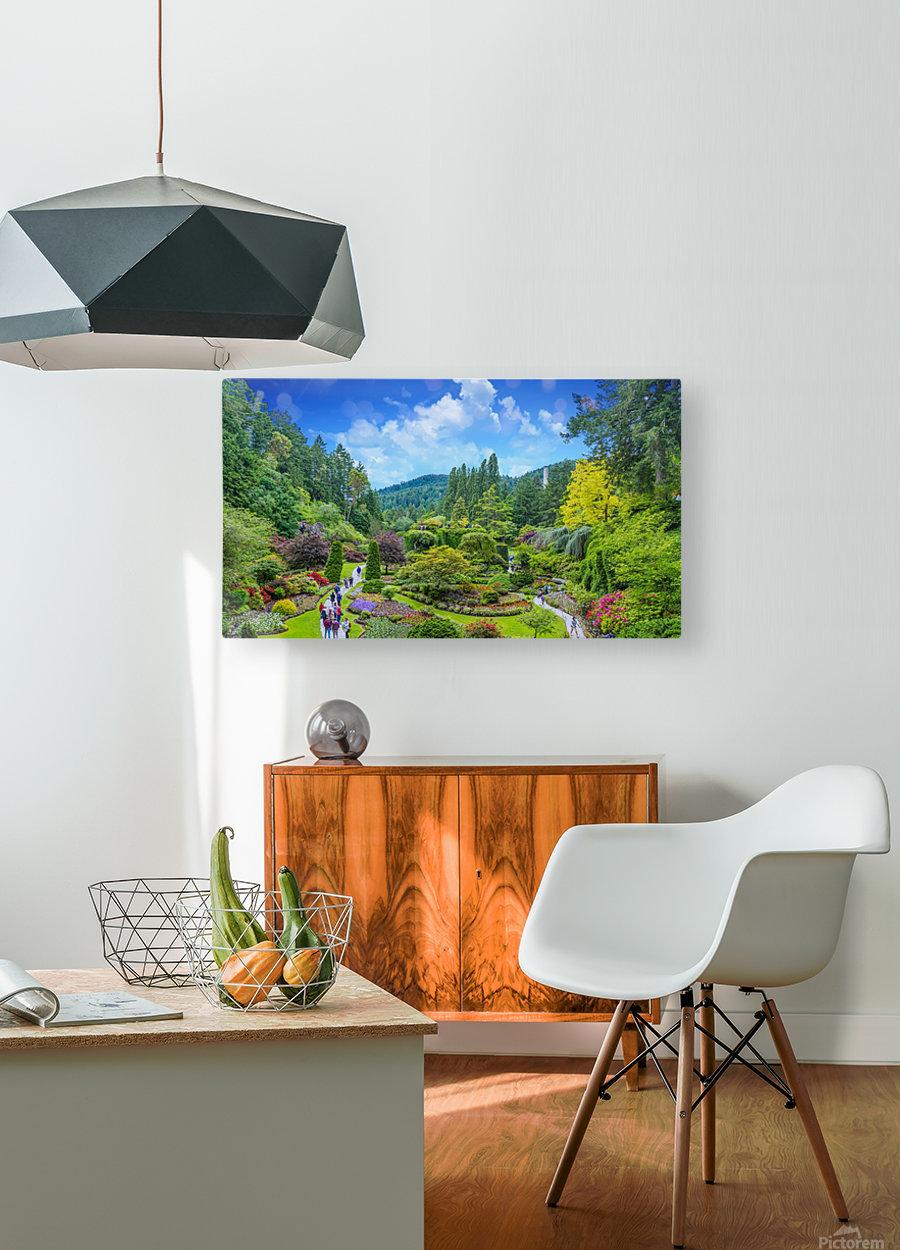 Butchart Gardens  HD Metal print with Floating Frame on Back