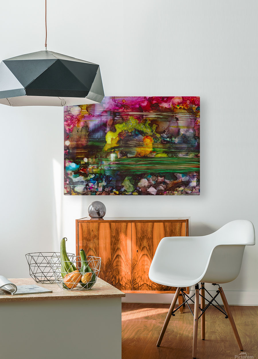 Chaos  HD Metal print with Floating Frame on Back