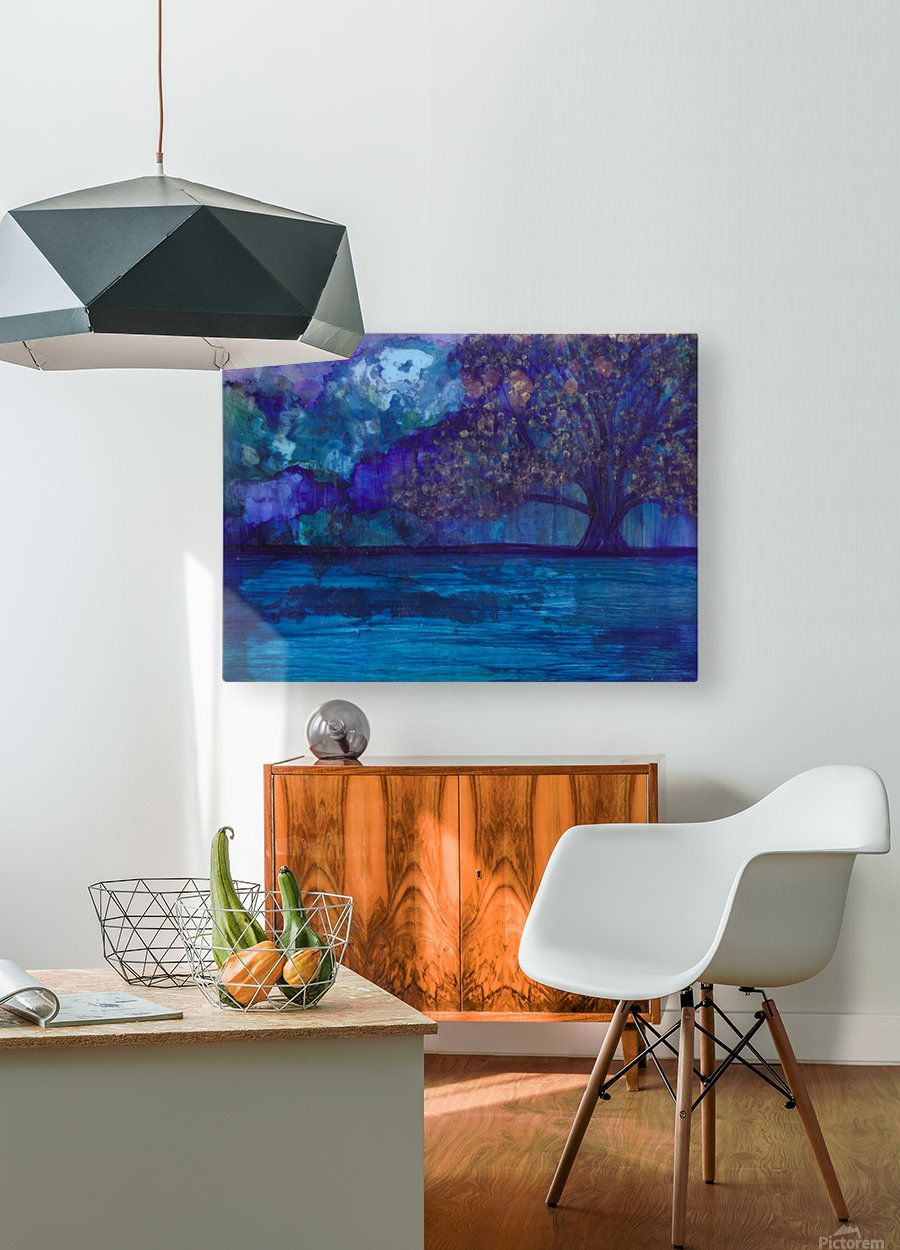 Lost in Purple  HD Metal print with Floating Frame on Back