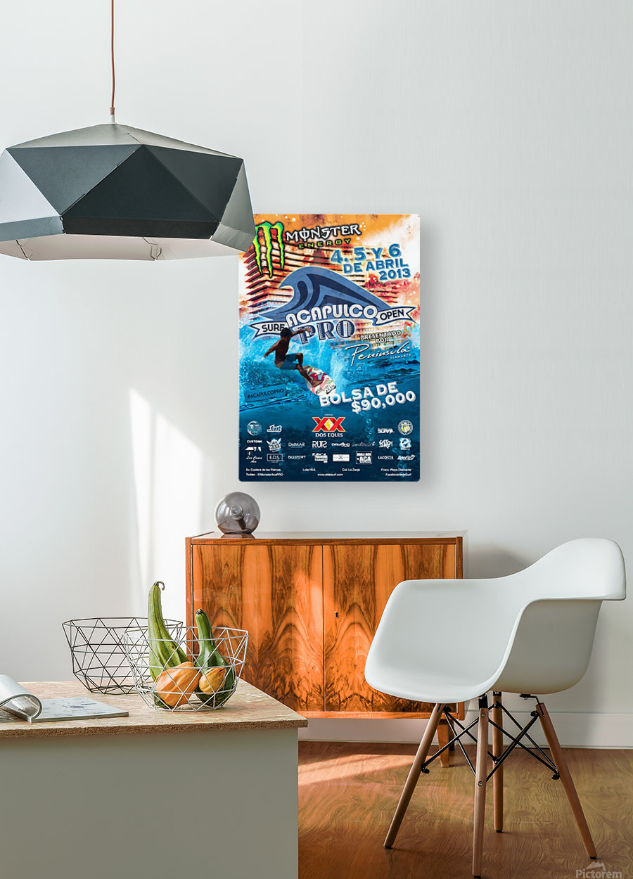 2013 ACAPULCO PRO Surf Competition Print  HD Metal print with Floating Frame on Back