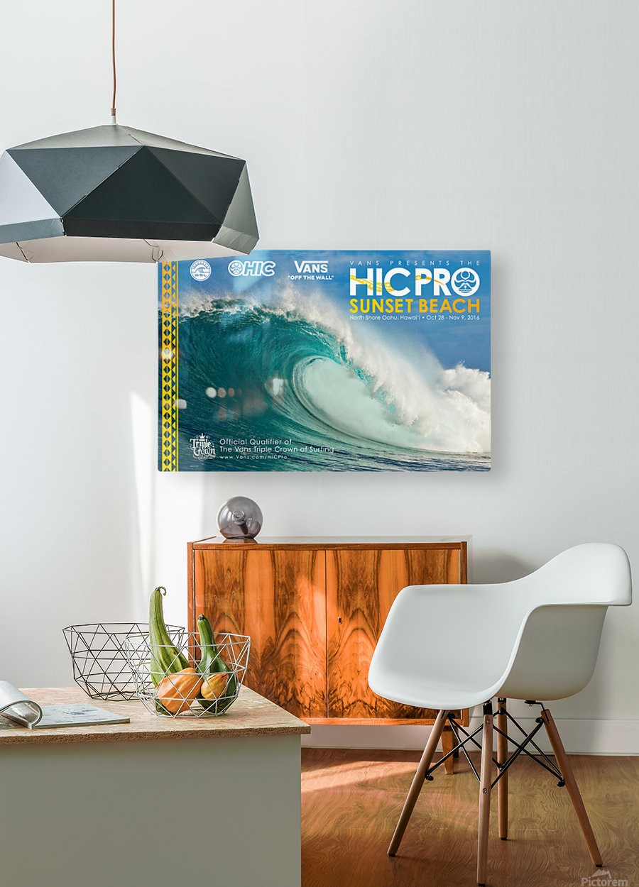 2016 VANS HIC PRO SUNSET BEACH Competition Print  HD Metal print with Floating Frame on Back