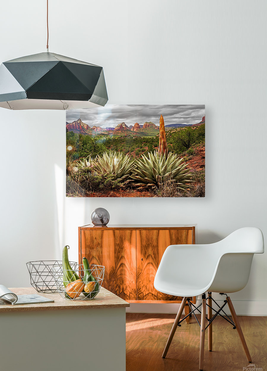 Storm over Sedona  HD Metal print with Floating Frame on Back