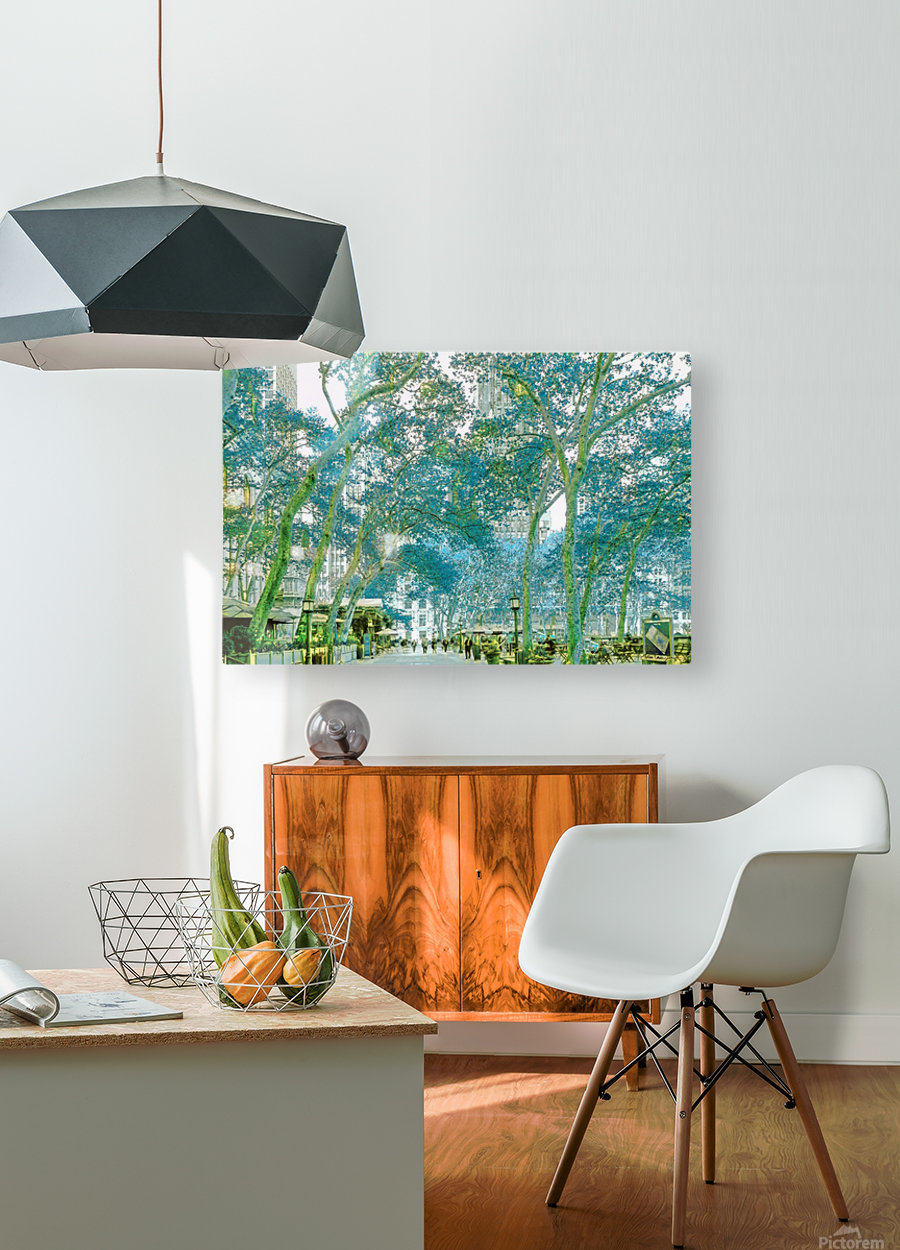 Bryant Park New York  HD Metal print with Floating Frame on Back