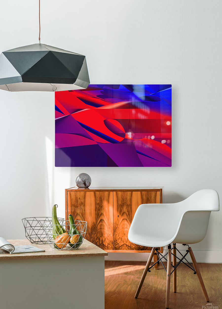 red and blue 0513a219  HD Metal print with Floating Frame on Back