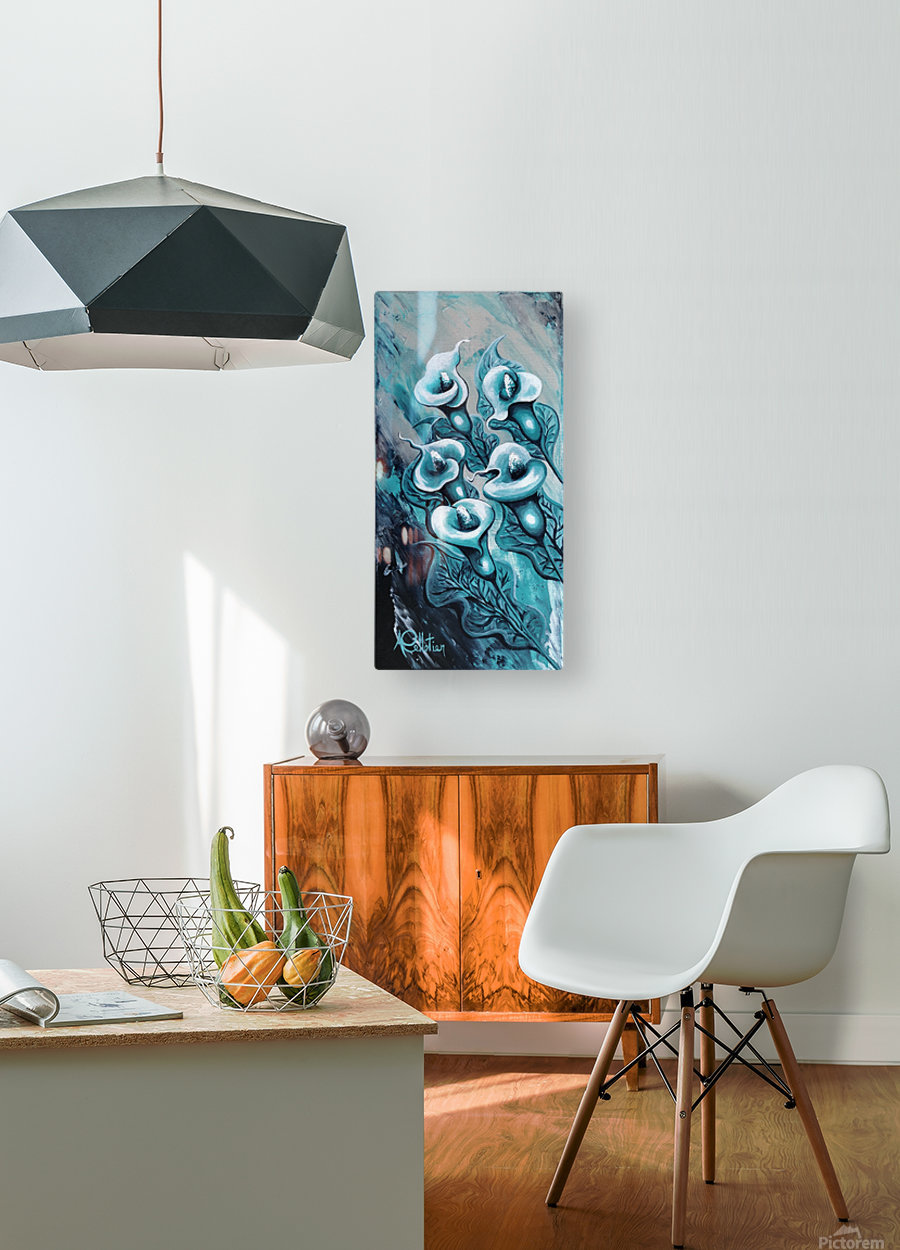 In love  HD Metal print with Floating Frame on Back