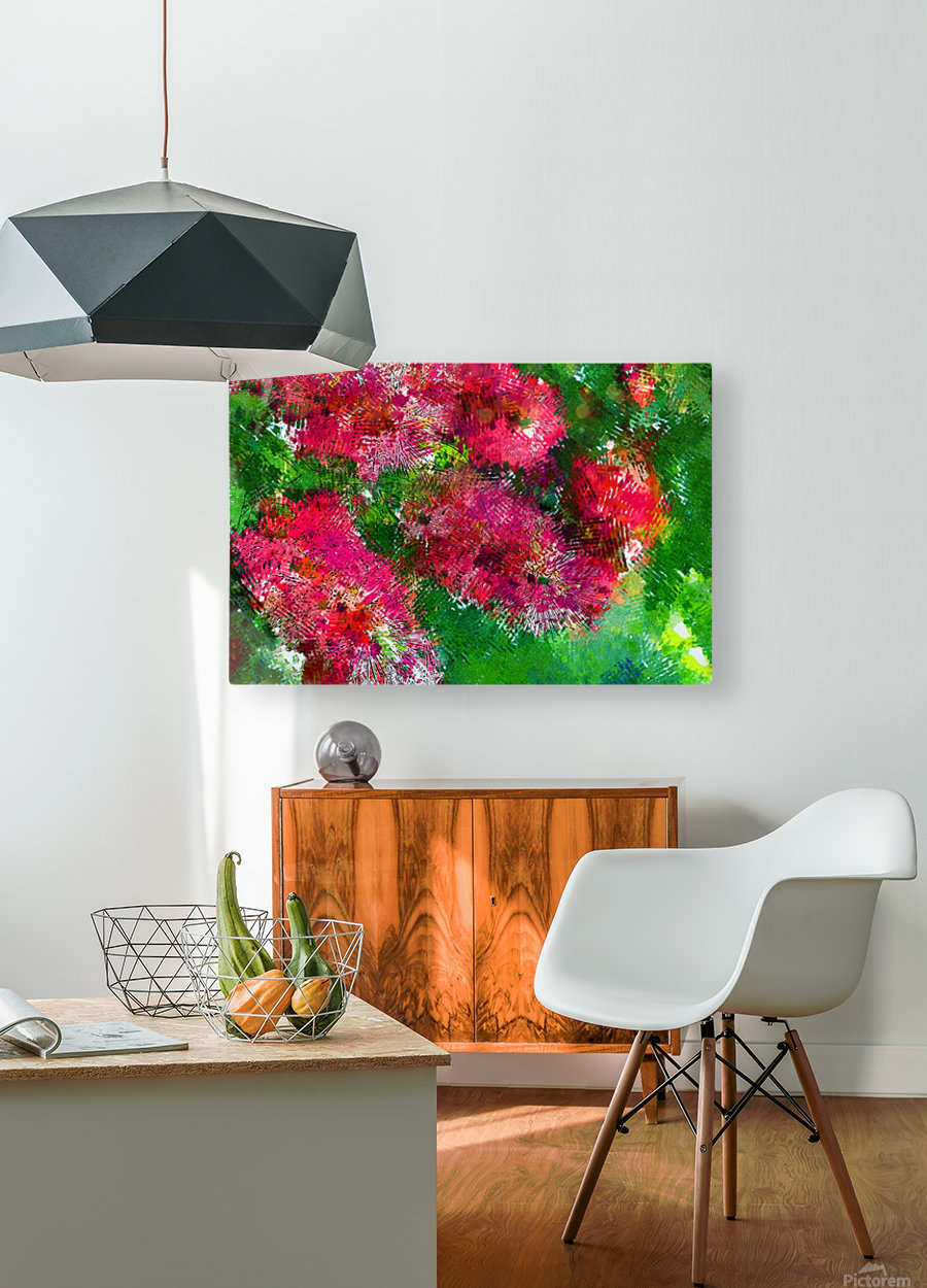 Bottle Brush Abstract 2  HD Metal print with Floating Frame on Back