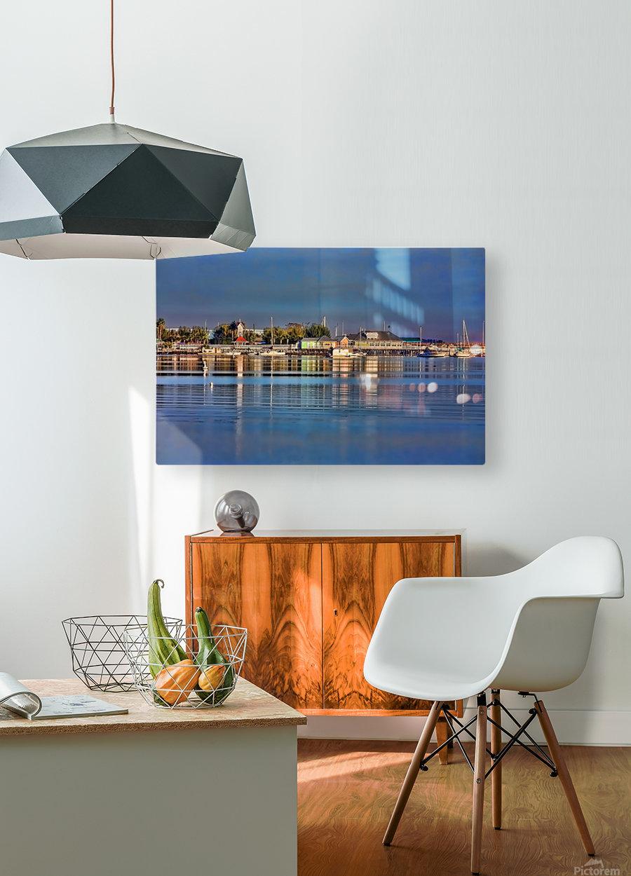Bridge Street Waterfront  HD Metal print with Floating Frame on Back