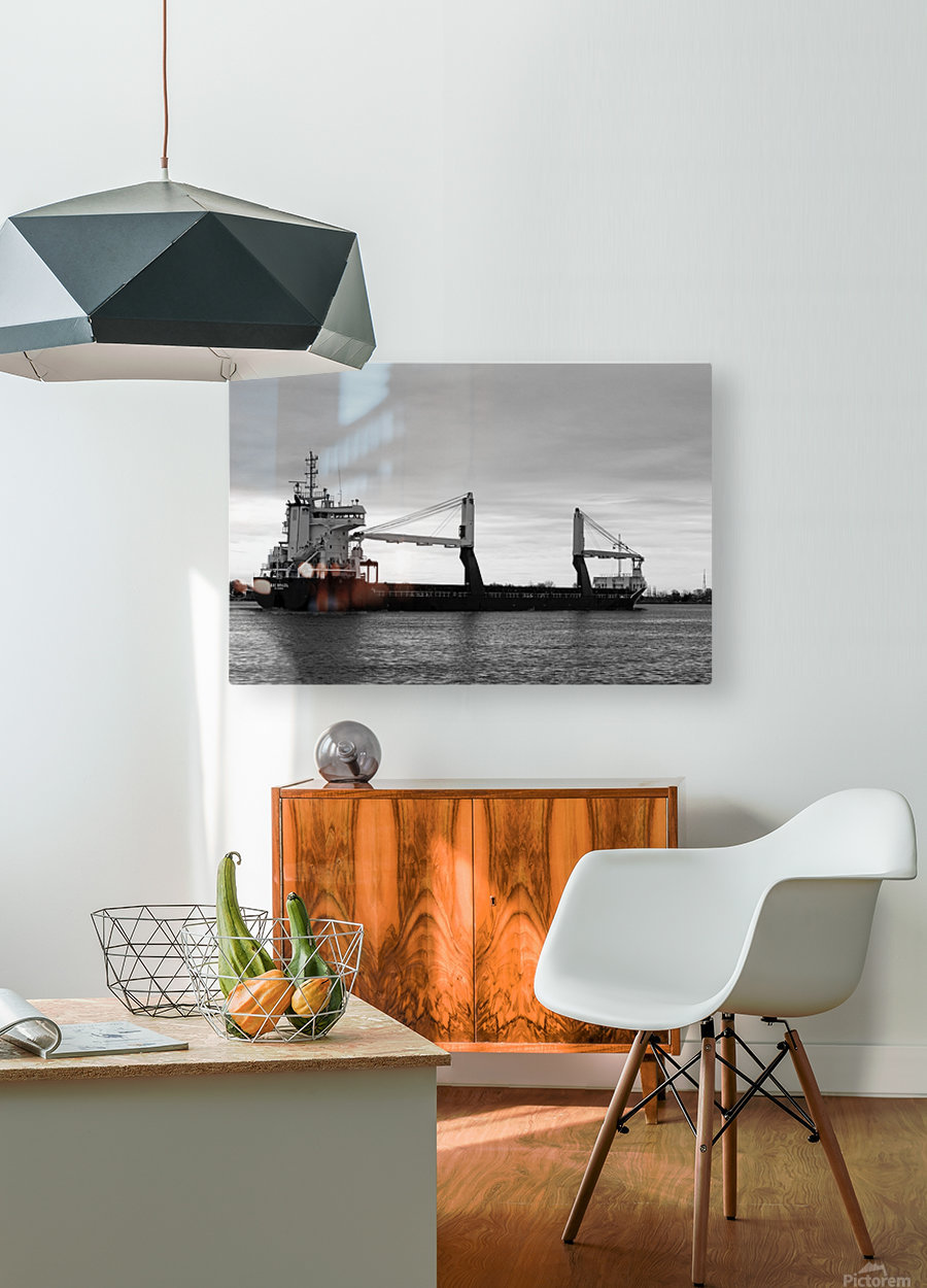 A Dark Ship and Dark Day 051219  HD Metal print with Floating Frame on Back