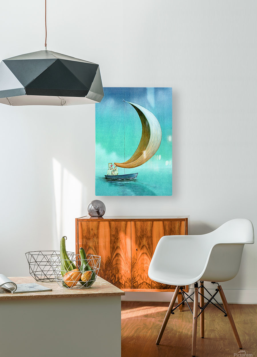 wind  HD Metal print with Floating Frame on Back