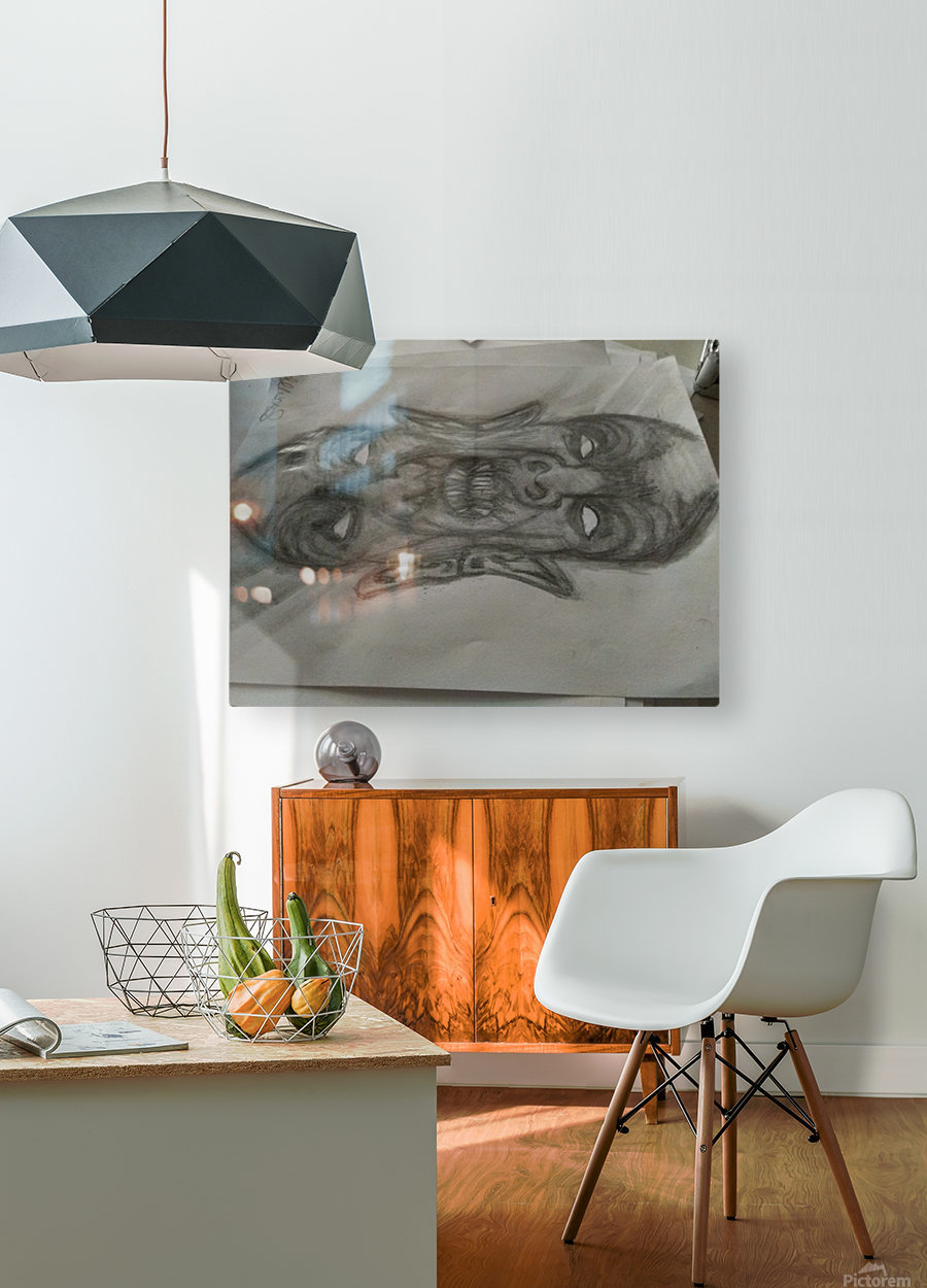 2faced  HD Metal print with Floating Frame on Back