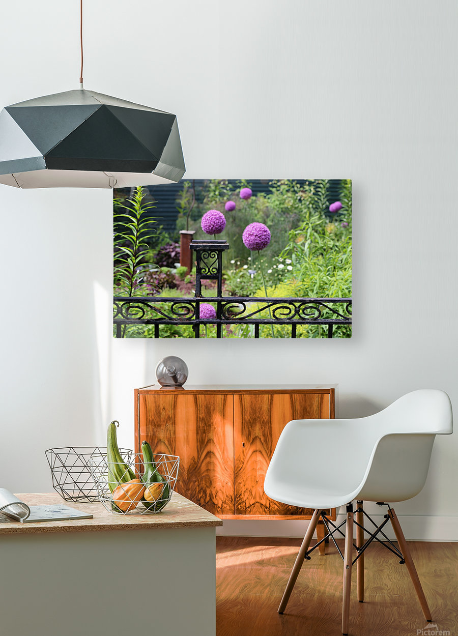 In the Garden 2018  HD Metal print with Floating Frame on Back