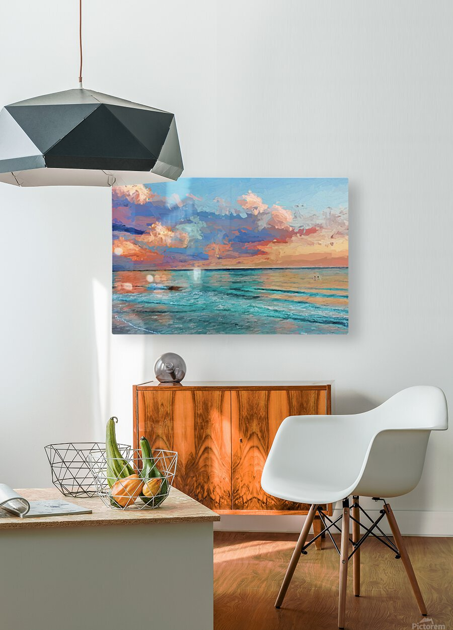Seascape Serenade  HD Metal print with Floating Frame on Back
