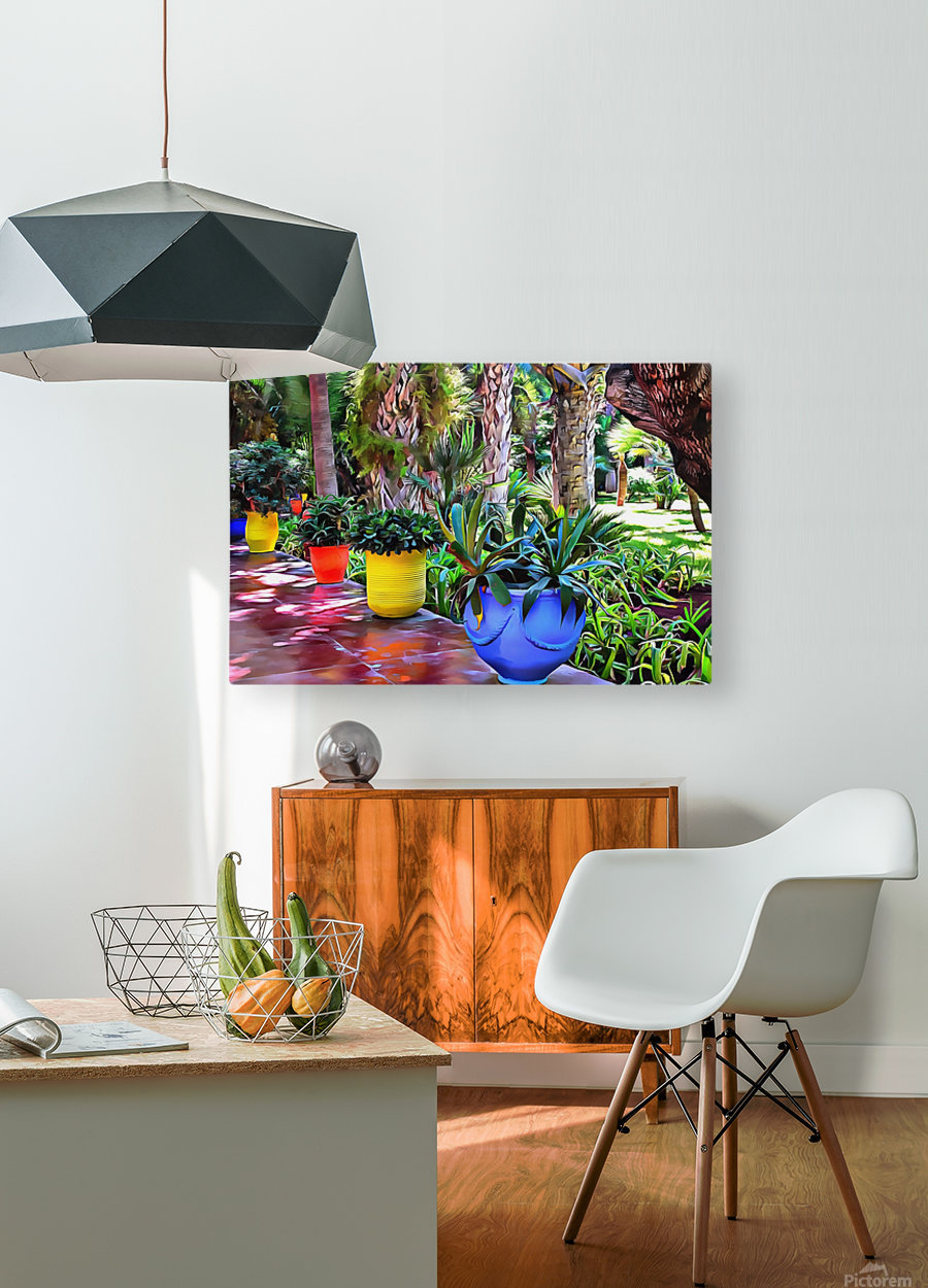 Colorful Plant Pots Marrakech 9  HD Metal print with Floating Frame on Back