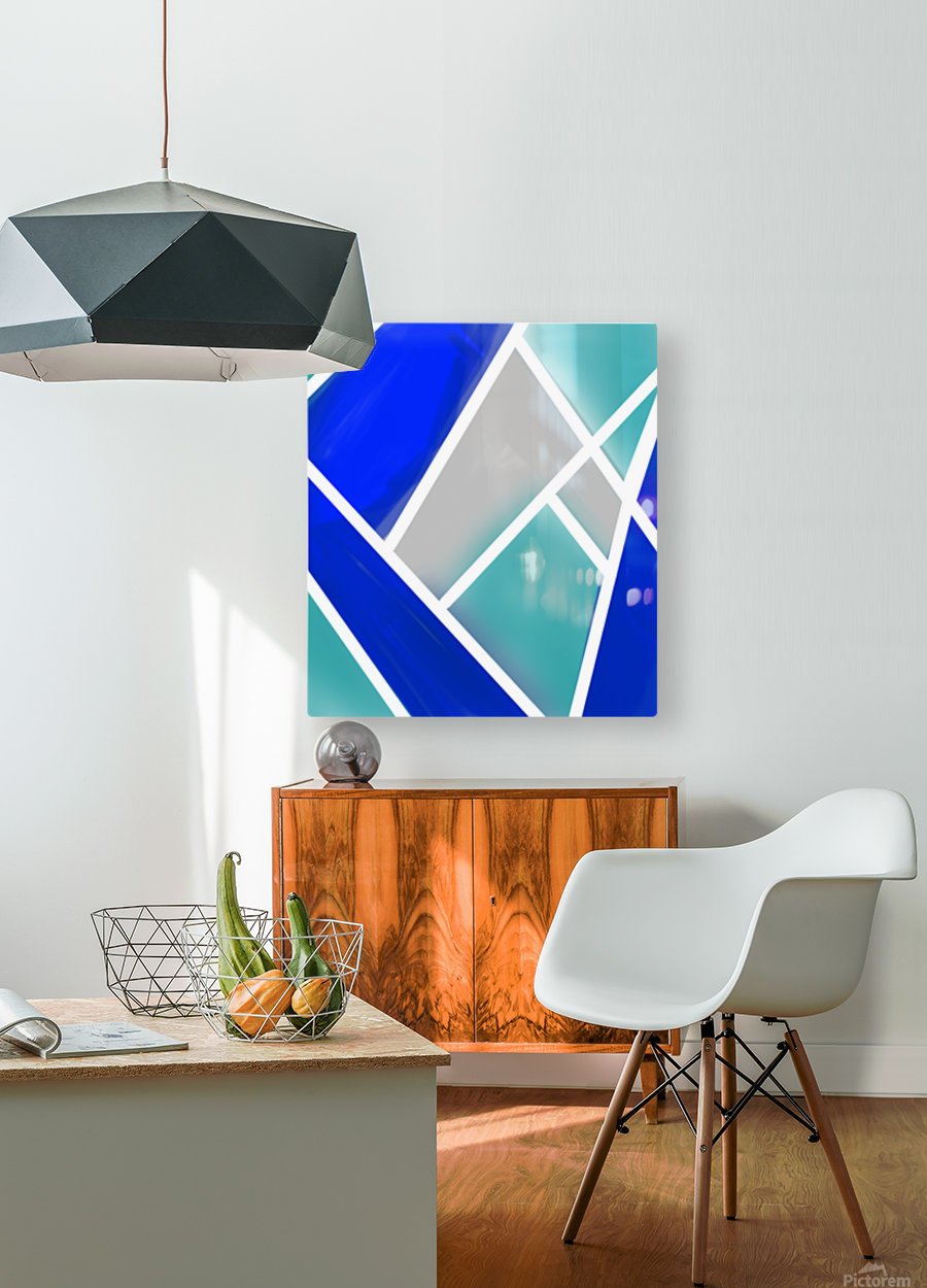 Quilted Geometric   HD Metal print with Floating Frame on Back