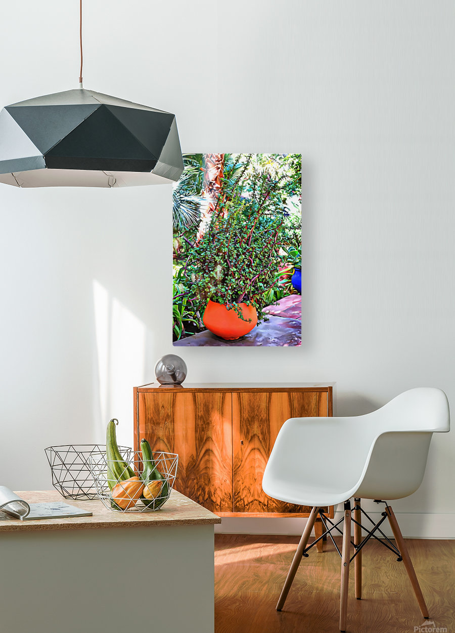 Colorful Plant Pots Marrakesh 10  HD Metal print with Floating Frame on Back