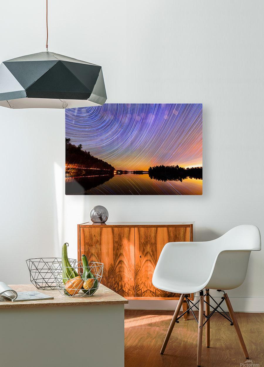 StarTrails Quebec  HD Metal print with Floating Frame on Back