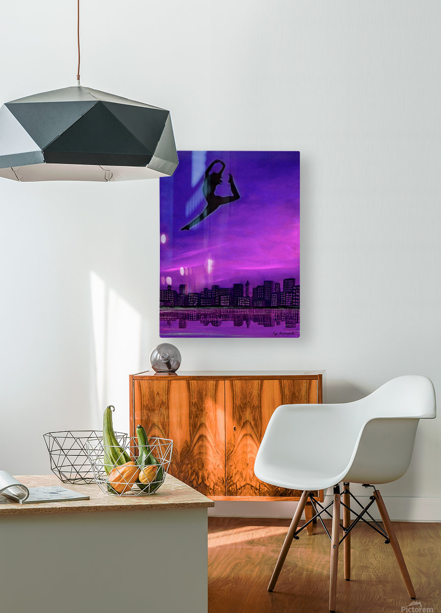 No Limit  HD Metal print with Floating Frame on Back