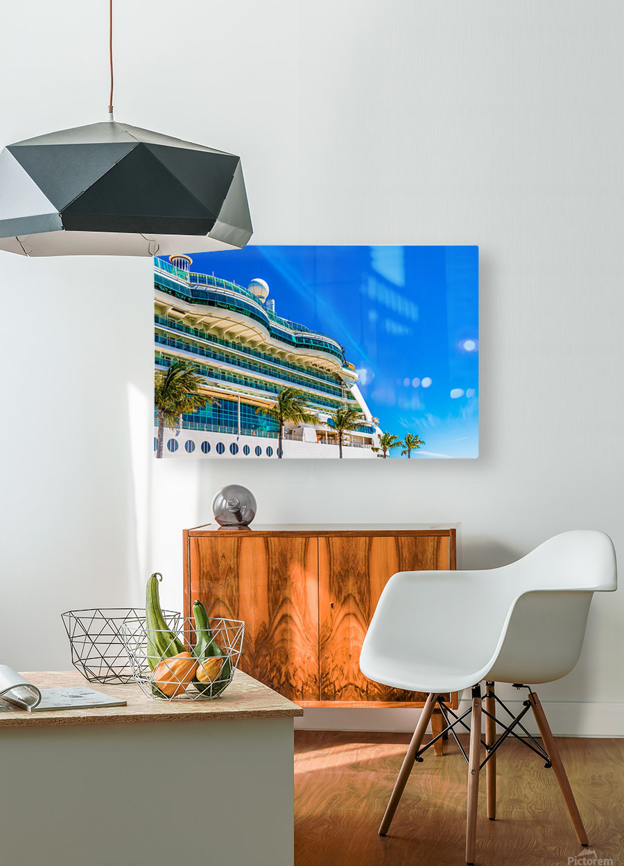 Cruise Ship in Paradise  HD Metal print with Floating Frame on Back