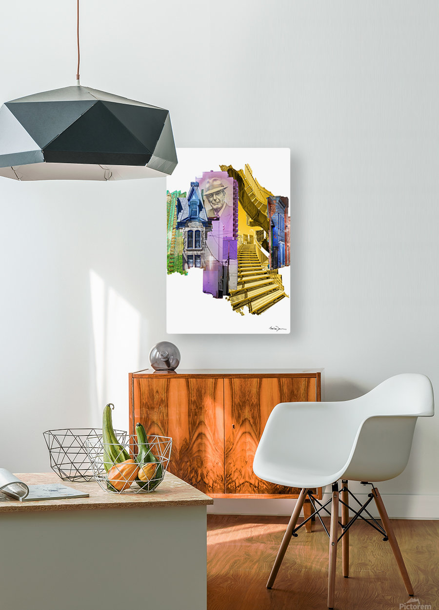 Montréal 2  HD Metal print with Floating Frame on Back